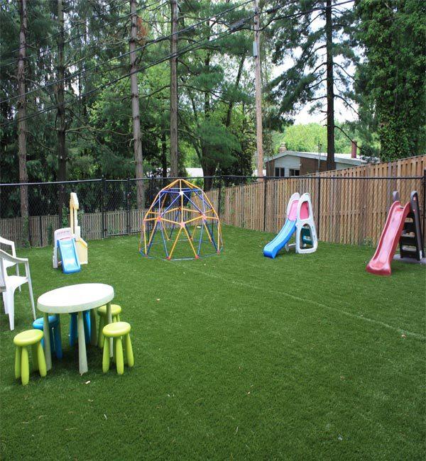 residential artificial turf installation
